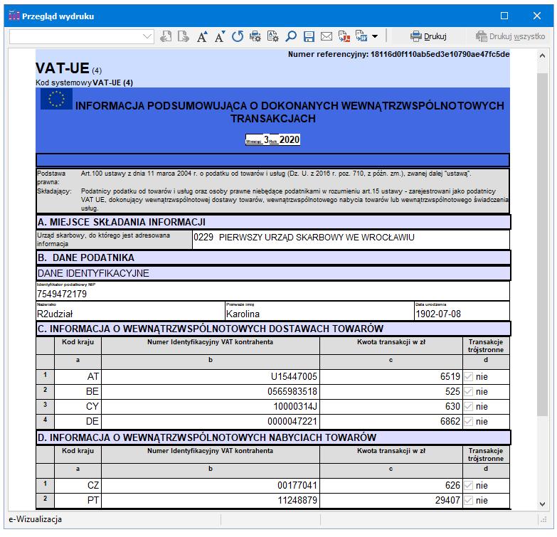 Wizualizacja VAT-UE